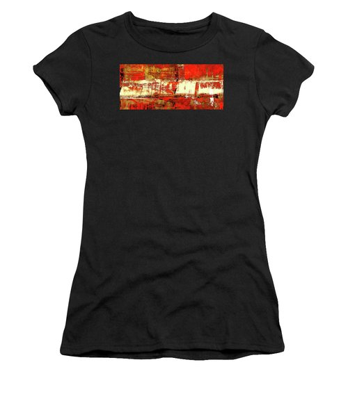 Indian Summer - Red Contemporary Abstract Women's T-Shirt