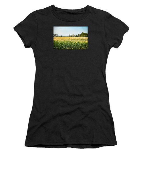 Indiana Corn Field Women's T-Shirt (Athletic Fit)