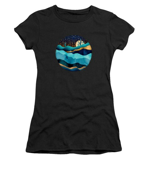 Indigo Desert Night Women's T-Shirt (Athletic Fit)