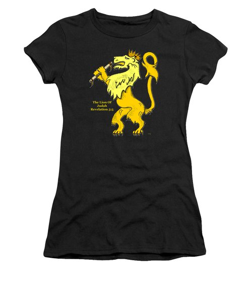 Inspirational - The Lion Of Judah Women's T-Shirt (Junior Cut) by Glenn McCarthy Art and Photography