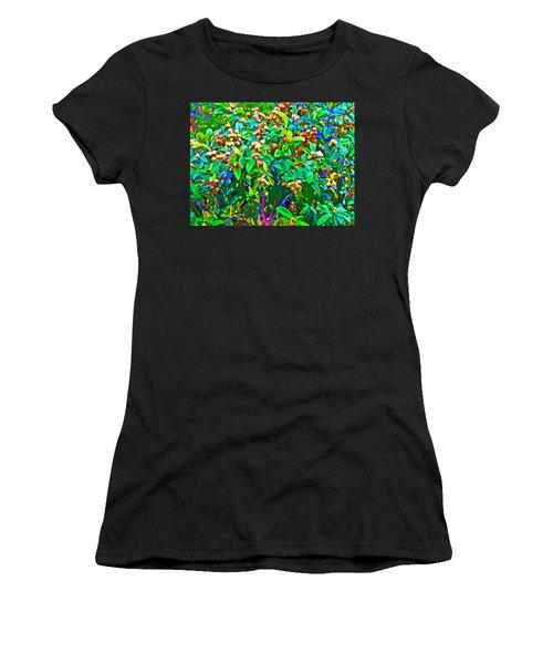 Intergalactic Orange Grove Women's T-Shirt (Athletic Fit)