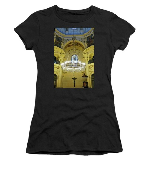 Interior Evening View Of St. Nicholas Church In Prague Women's T-Shirt (Athletic Fit)