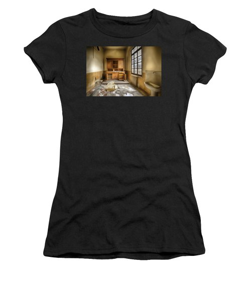 Interior Furniture Atmosphere Of Abandoned Places Dig Paint Women's T-Shirt