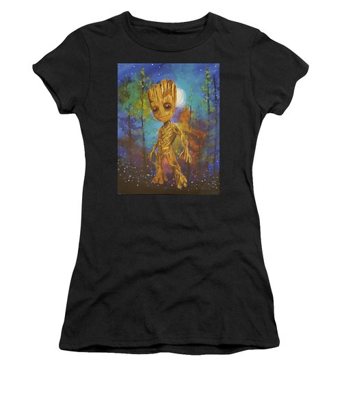 Into The Eyes Of Baby Groot Women's T-Shirt (Athletic Fit)