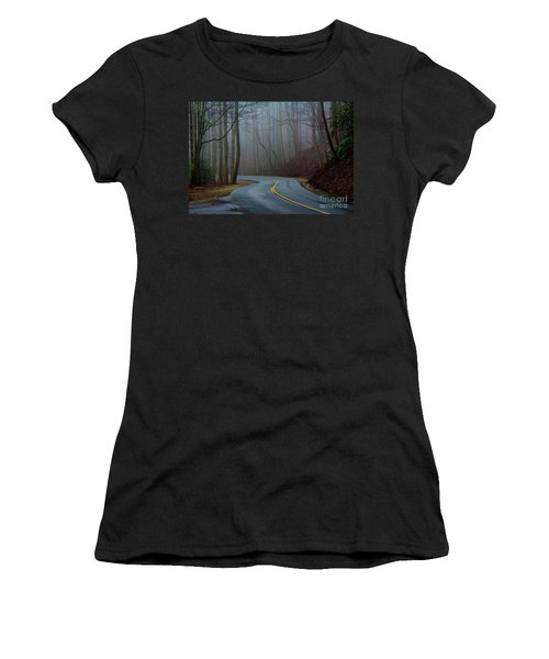Women's T-Shirt (Junior Cut) featuring the photograph Into The Mist by Douglas Stucky