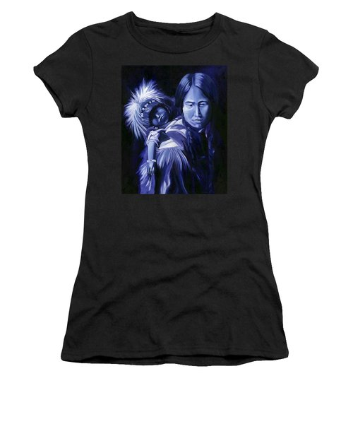 Inuit Mother And Child Women's T-Shirt (Junior Cut) by Nancy Griswold