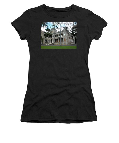 Women's T-Shirt (Junior Cut) featuring the photograph Iolani Palace, Honolulu, Hawaii by Mark Czerniec