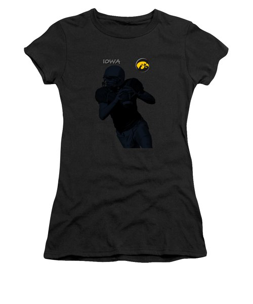 Iowa Football  Women's T-Shirt (Athletic Fit)