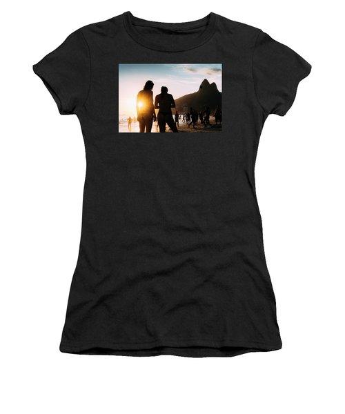 Ipanema, Rio De Janeiro, Brazil At Sunset Women's T-Shirt