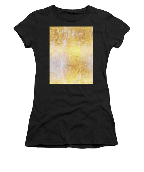 Iridescent Abstract Non Objective Golden Painting Women's T-Shirt