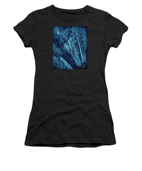 Iridescent Fern In Oil Women's T-Shirt (Athletic Fit)