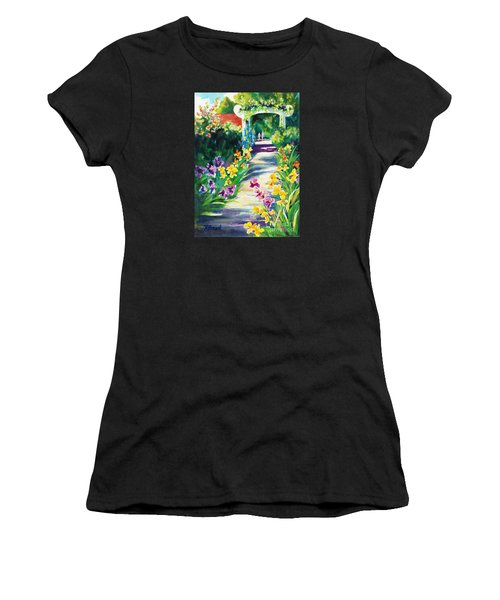 Iris Garden Walkway   Women's T-Shirt (Athletic Fit)