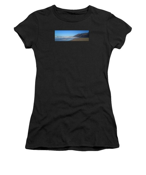 Irish Beach With Border Women's T-Shirt (Athletic Fit)