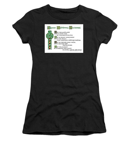 Irish Celtic Wedding Blessing Women's T-Shirt (Athletic Fit)