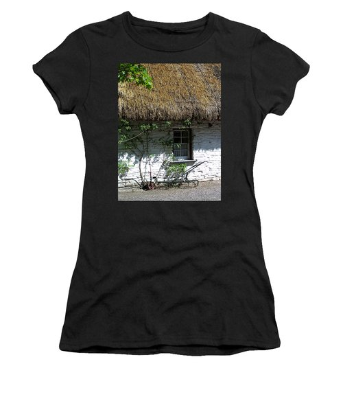 Irish Farm Cottage Window County Cork Ireland Women's T-Shirt (Athletic Fit)