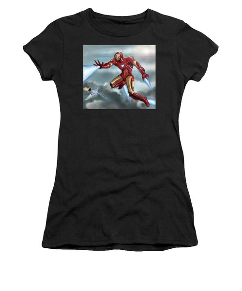 Iron Man Women's T-Shirt (Athletic Fit)
