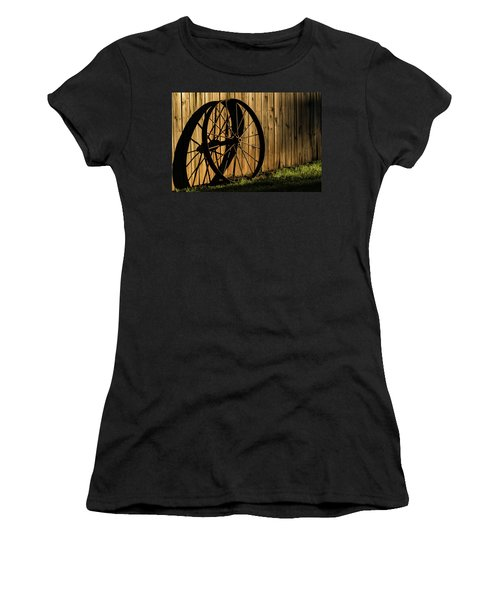 Iron Wheel Women's T-Shirt (Athletic Fit)