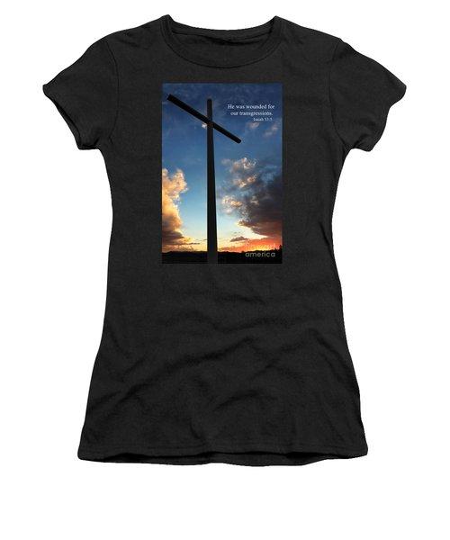 Isaiah 53-5 Women's T-Shirt (Athletic Fit)