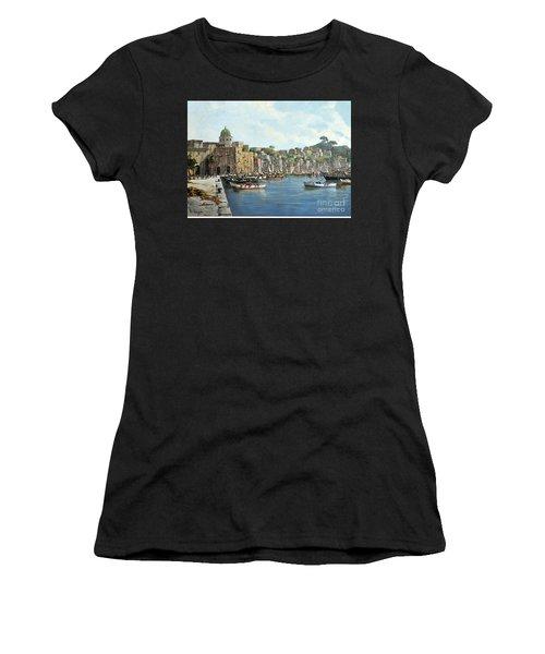 Island Of Procida - Italy- Harbor With Boats Women's T-Shirt