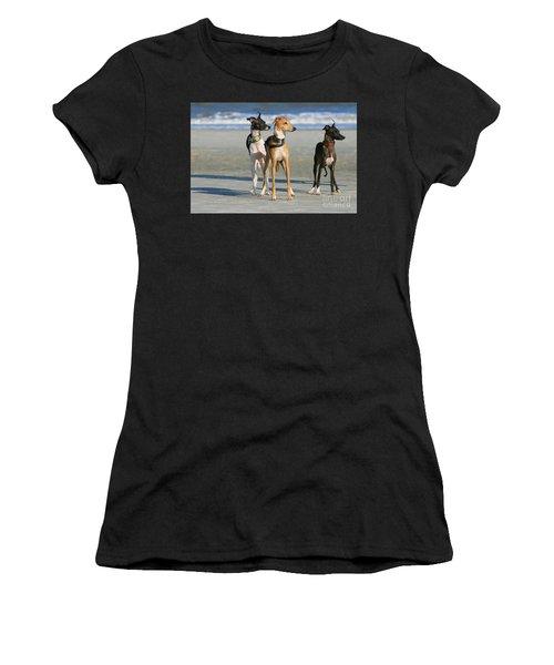 Italian Greyhounds On The Beach Women's T-Shirt