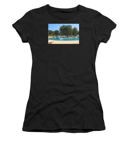 Italy Resort- Olive Tree In Pool Women's T-Shirt (Athletic Fit)
