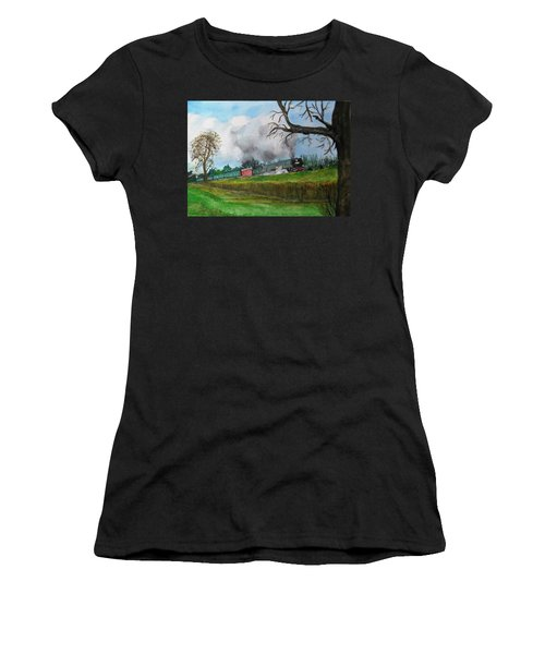 It's All Uphill To Scotland Women's T-Shirt (Athletic Fit)