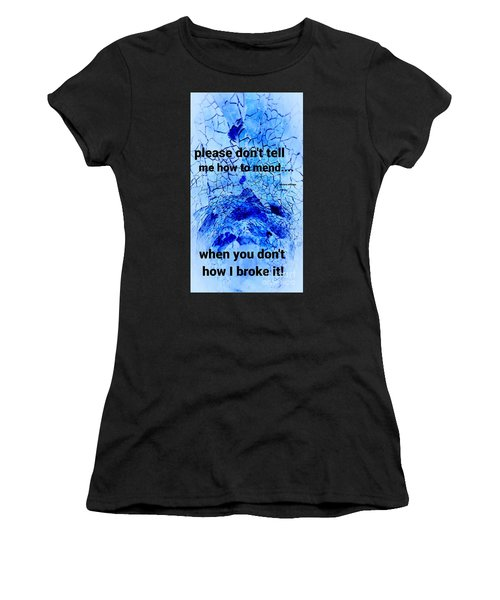 It's Broke Women's T-Shirt (Athletic Fit)
