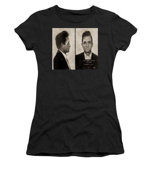 J Cash Women's T-Shirt (Junior Cut) by David Millenheft