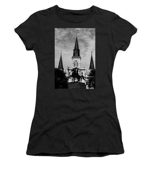 Jackson Square - Monochrome Women's T-Shirt (Athletic Fit)
