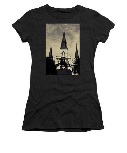 Jackson Square - Split Tone Women's T-Shirt (Athletic Fit)