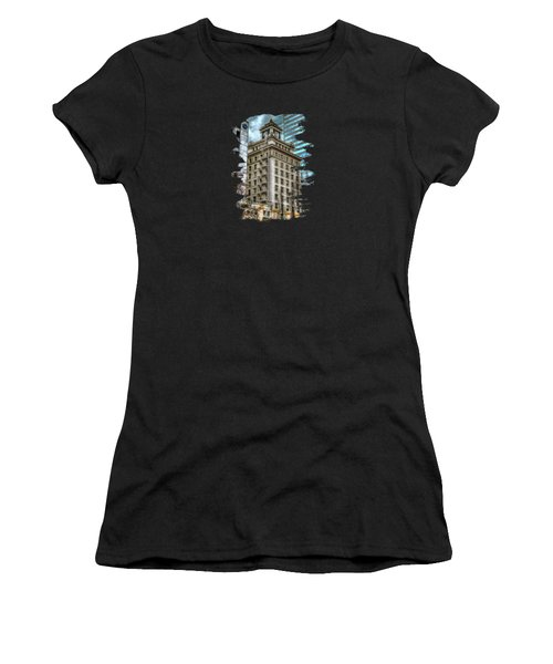 Jackson Tower Portland Oregon Women's T-Shirt (Junior Cut) by Thom Zehrfeld