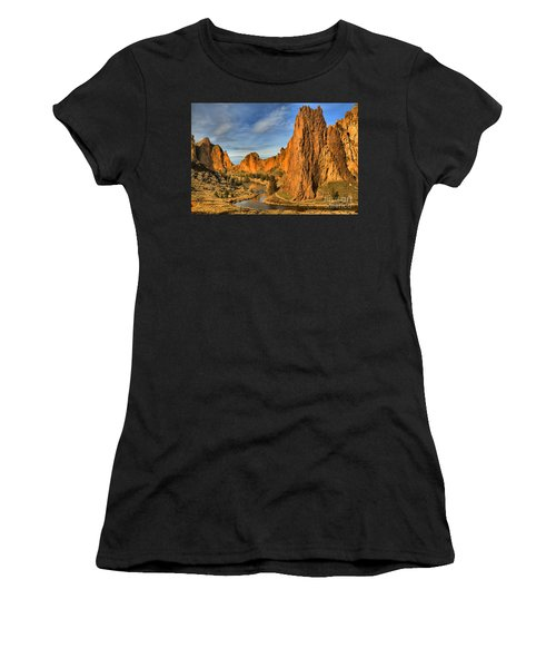 Jagged Peaks Over The Crooked River Women's T-Shirt