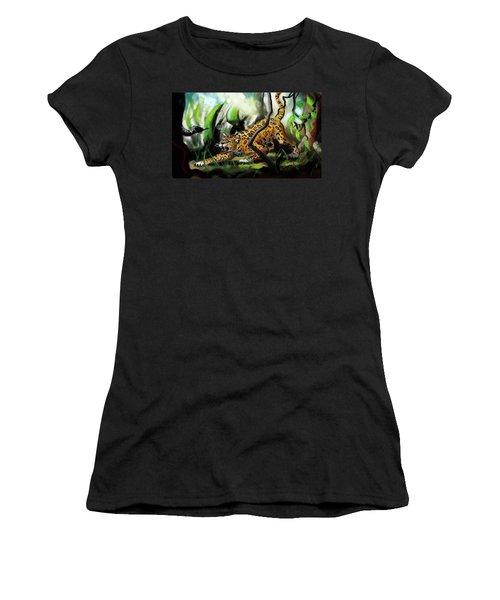Jaguar And Boa Women's T-Shirt (Athletic Fit)