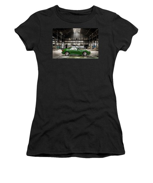 Jaguar F-type - British Racing Green - Side View Women's T-Shirt (Athletic Fit)