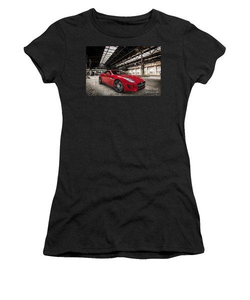 Jaguar F-type - Red - Front View Women's T-Shirt (Athletic Fit)