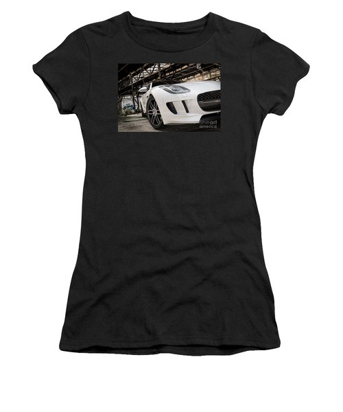 Jaguar F-type - White - Front Close-up Women's T-Shirt (Athletic Fit)