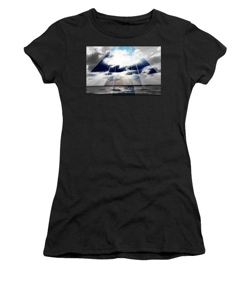 Jamaica Sunset Art Deco Bw With Color Women's T-Shirt (Athletic Fit)
