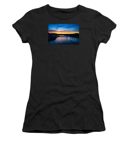 James River Sunset Women's T-Shirt (Athletic Fit)
