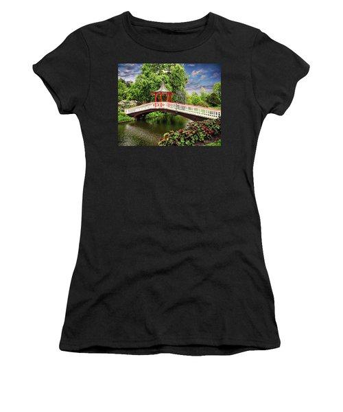 Japanese Bridge Garden Women's T-Shirt (Athletic Fit)