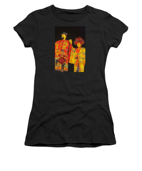 Japanese Lanterns King And His Dancers Women's T-Shirt (Athletic Fit)