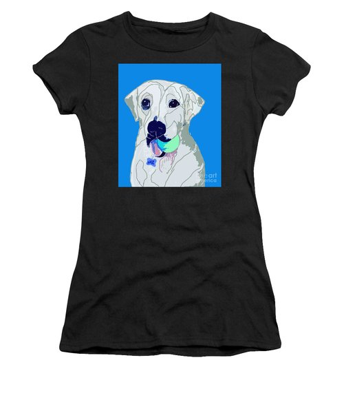 Jax With Ball In Blue Women's T-Shirt