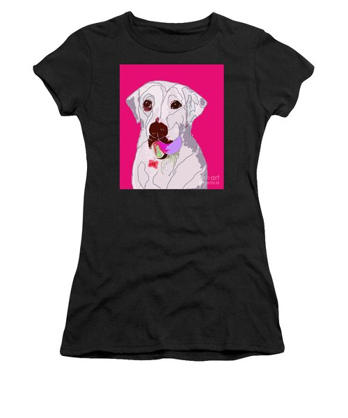 Jax With Ball In Pink Women's T-Shirt