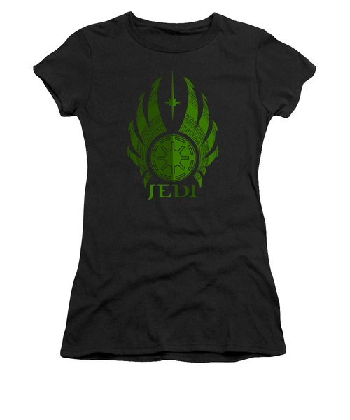 Jedi Symbol - Star Wars Art, Green Women's T-Shirt (Athletic Fit)