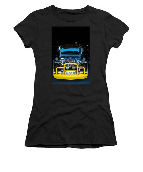 Jeepney, Manila Women's T-Shirt (Athletic Fit)