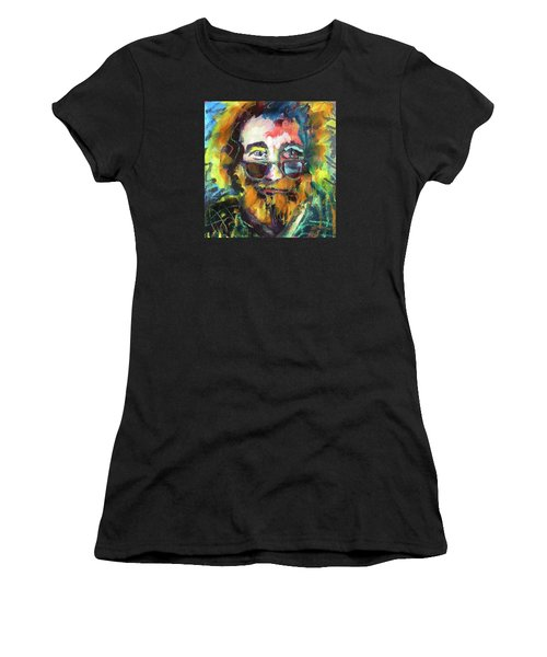 Jerry Garcia Women's T-Shirt (Athletic Fit)