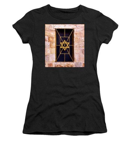 Jerusalem Window On Mt. Zion Israel Women's T-Shirt