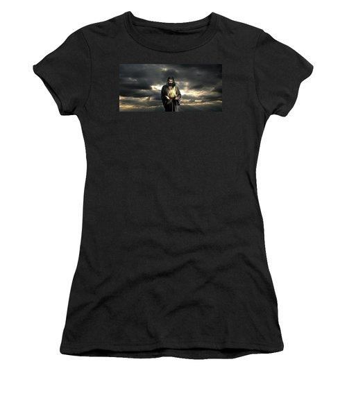 Jesus In The Clouds Women's T-Shirt (Athletic Fit)