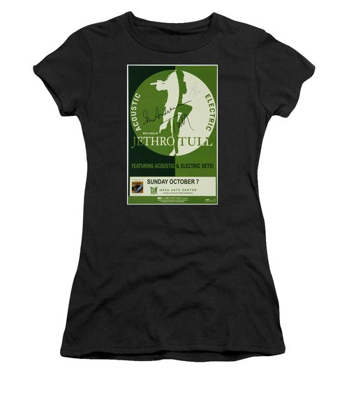 Jethro Tull Signed Poster Women's T-Shirt (Athletic Fit)