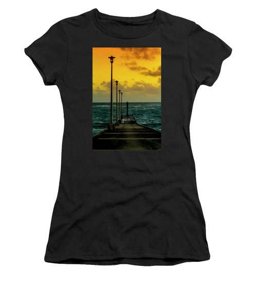 Jetty At Sunrise Women's T-Shirt (Athletic Fit)