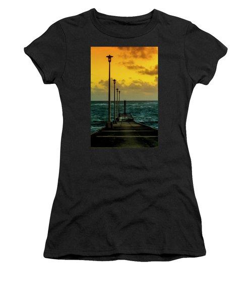 Jetty At Sunrise Women's T-Shirt